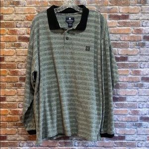 Givenchy long sleeve polo (authentic) black/white